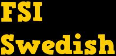 Free FSI Swedish Course