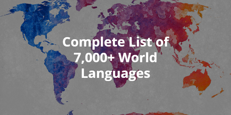 List of All World Languages