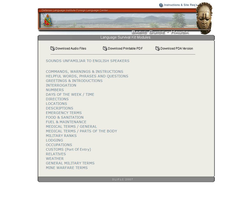 Free hausa language survival kit download basic guide hausa m4hsunfo